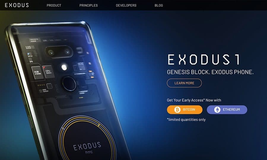 Release of the HTC Exodus 1 with Integrated Blockchain Technology